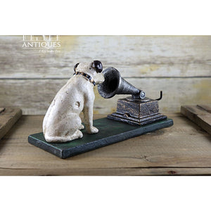 Rca Nipper Dog And Gramophone-Cast Iron Victor Dog-Rca Cast Collectible