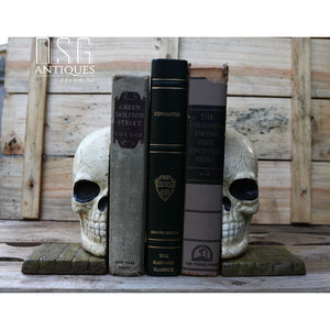 Skeleton Bookends Cast Iron Skeleton Skull Bookends Collectible Skulls Skulls Skull