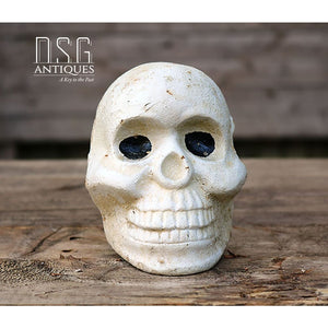Skull Primitive Skull Large Cast Iron Skull Collectible Skull Vintage Skull Skeleton Head Primitive Skull Skull