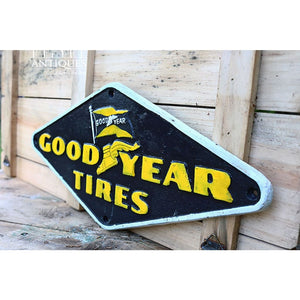 Vintage Goodyear Sign Cast Iron Goodyear Sign Car Sign Collectible Sign Goodyear Founded 1898 Cast Iron Sign