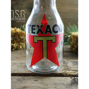 Vintage Style Texaco Oil Bottle Advertisement Bottle