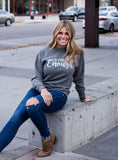 I Am Enough Soft UNISEX Gray Sweatshirt