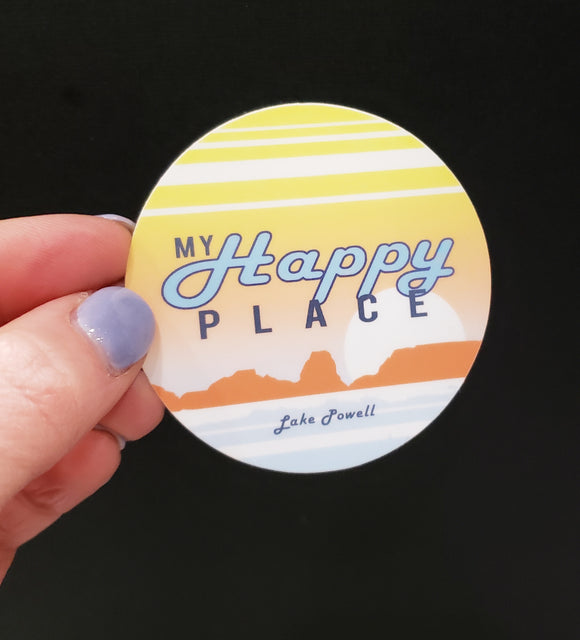 My Happy Place Lake Powell Vinyl Sticker
