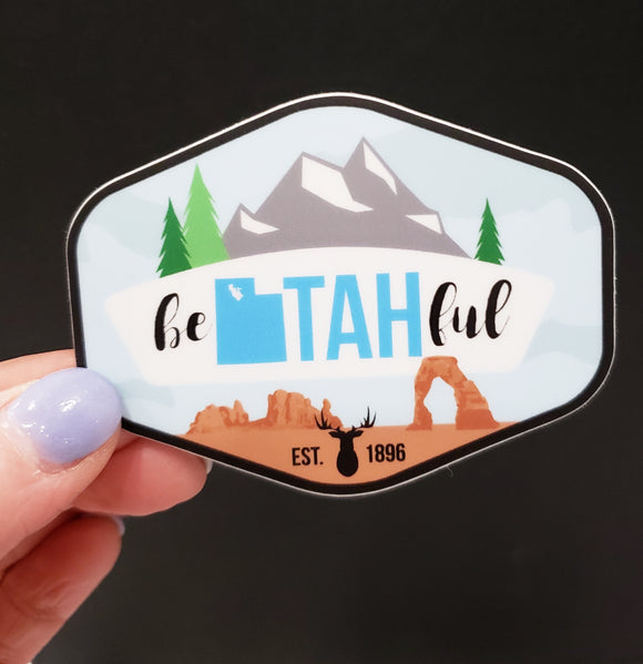 BeUtahFul Vinyl Sticker