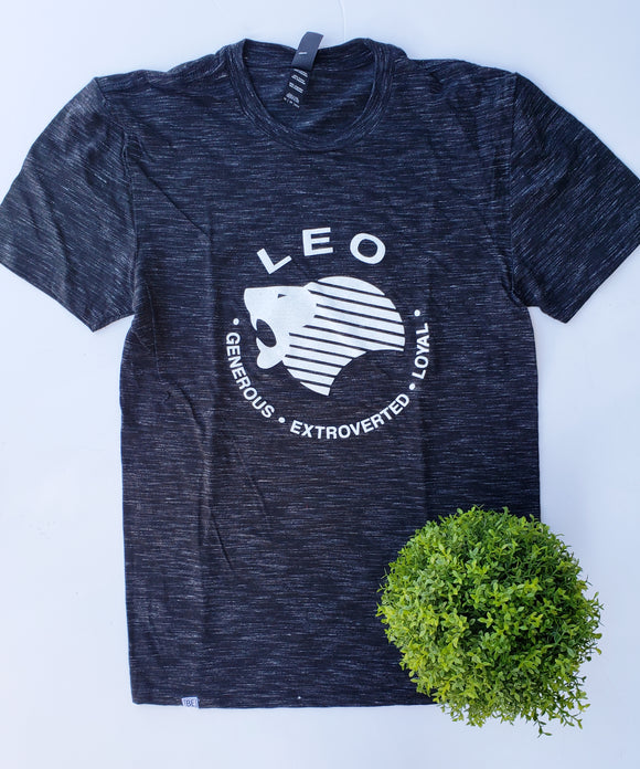 LEO Zodiac Tee (Jul 23 - Aug 22) Black Medal UNISEX Crew-neck