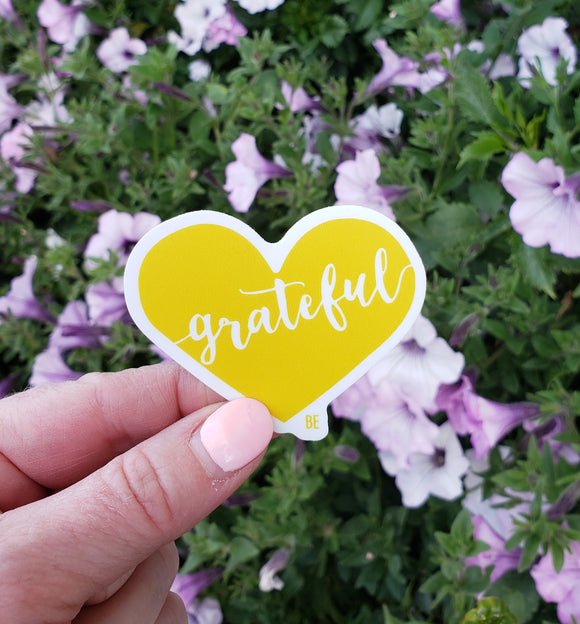 Grateful Heart Vinyl Sticker