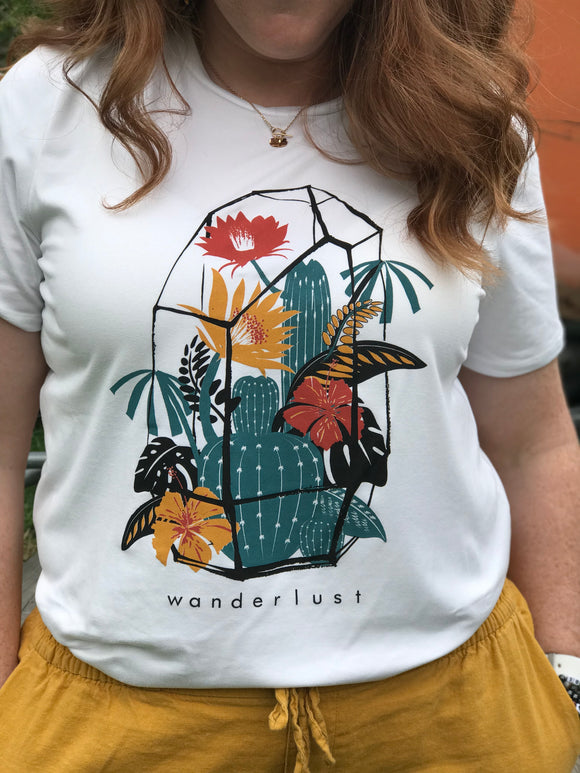 Wanderlust -  Women's White Luxury-Soft Tee