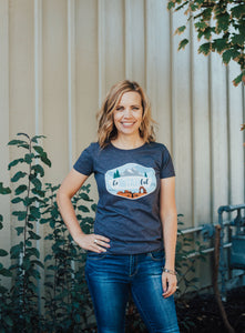 BeUtahFul Heathered Gray Women's Tee