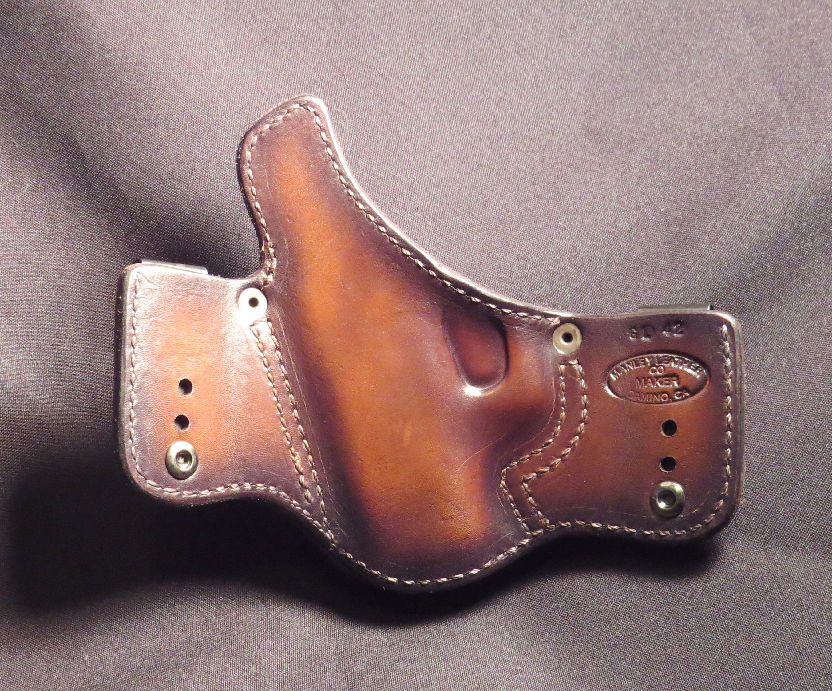 Glock 42 IWB Leather Holster
