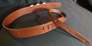 "Leather Guitar Strap with Pick Holders, 2"" wide"