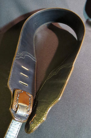 "Leather Guitar Strap 3"" wide"
