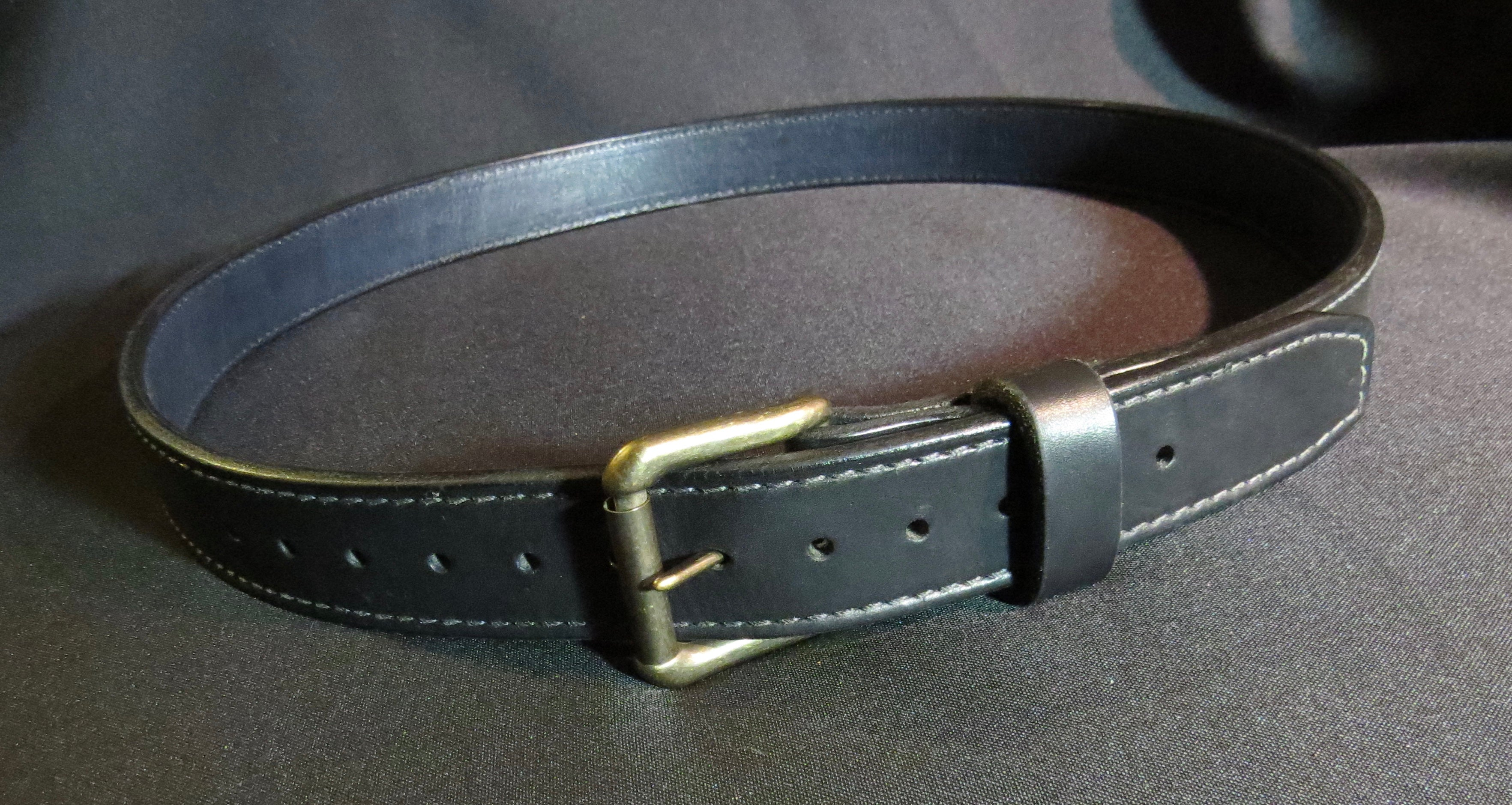 Double Layer Heavy Duty Leather Belt, Black