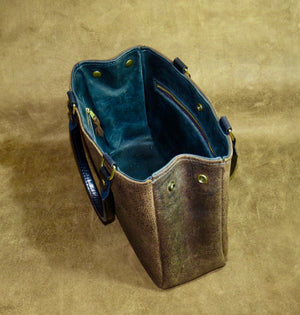 Distressed Leather Hand Bag