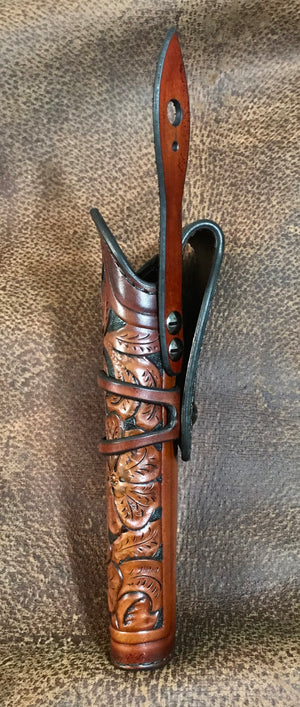 Hand Tooled Leather Holster for Colt SAA, Ruger Vaquero 5 1/2""