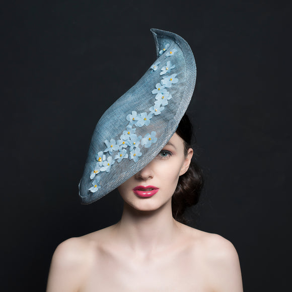 Light blue hat/Fascinator for mother of bride or special occasions