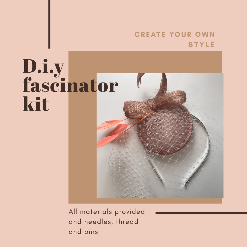 diy pink fascinator craft kit