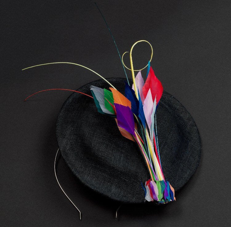 Spray of colour medium saucer hat