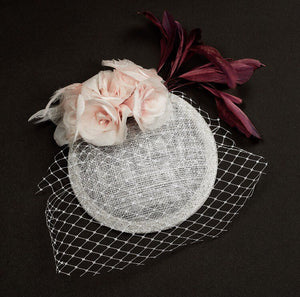 Sweet Tilly-light pink rose fascinator