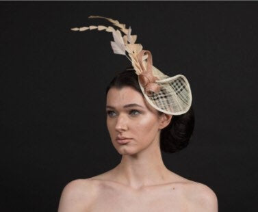 Cream fascinator for weddings