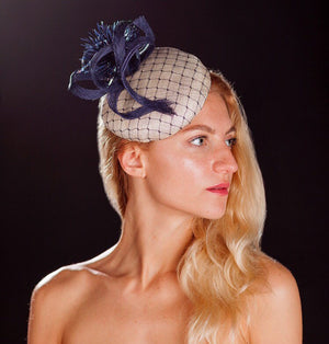 Navy and white hatinator- for weddings
