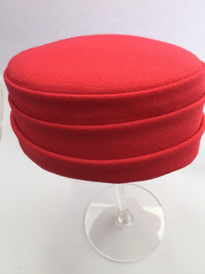 Red wool pill box