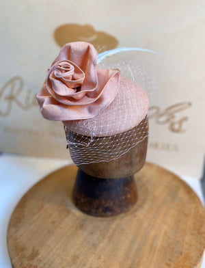 Pink rose hat/fascinator