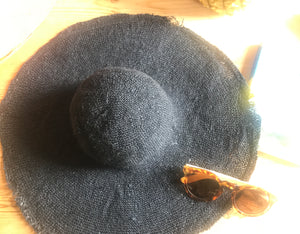 Navy hemp Straw sun hat
