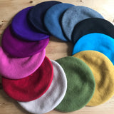 Wool Berets in all the colours of the rainbow