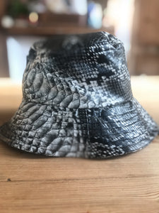 fake snake bucket hat