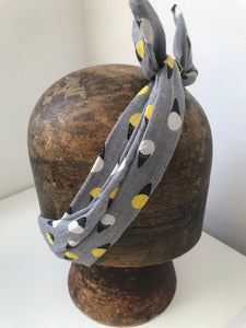 Grey ice cream print wired headbands