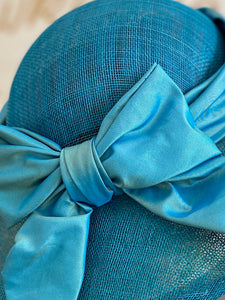Sea blue wedding hat -Lady Laura