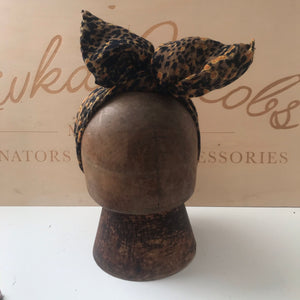 Leopard print wired headband