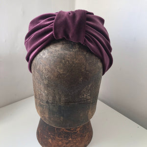 purple velvet turban