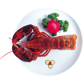 Baked Lobster With A Garnish
