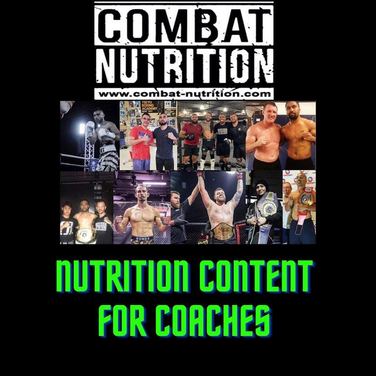 Nutrition Content For Coaches