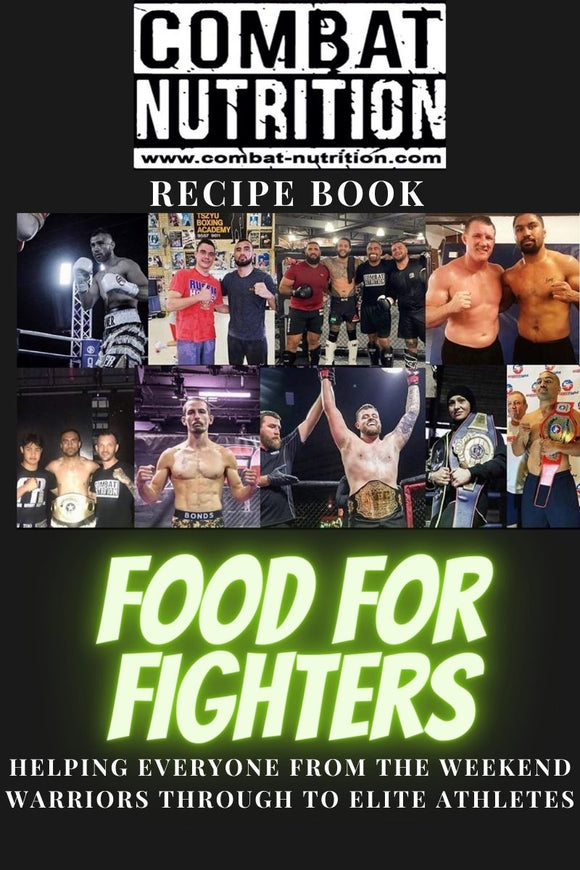 Recipe Book and TShirt Combo - combat nutrition