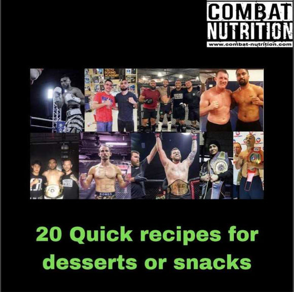 20 quick recipes for desserts or snacks - combat nutrition