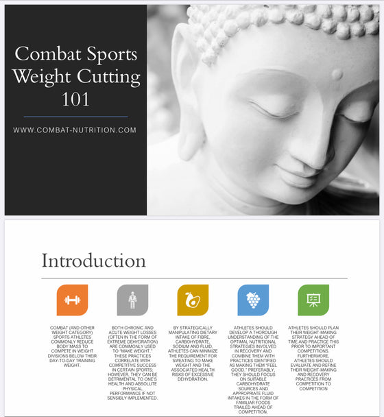 Acute weight loss and rehydration for combat sports - combat nutrition