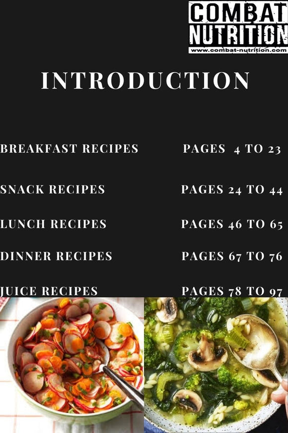 Food For Fighters Recipe Book - combat nutrition