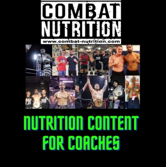 Nutrition content for coaches + food for fighters recipe book + 50 nutrition & BIOHACKING infographics