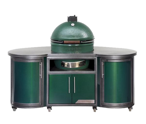 L Big Green Egg Cooking Island