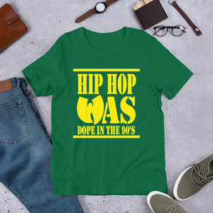 Hip Hop Was Dope (Yellow Font) - TeeHop