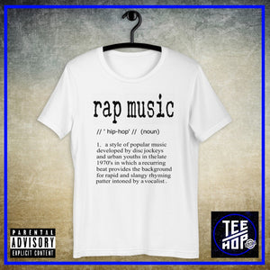 RAP MUSIC DEFINED (Múltiples colores)