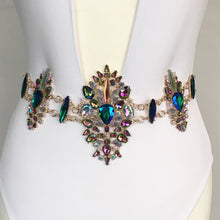 Lupus - Multi-coloured Gem-Encrusted Metal Body Chain - Jewels of Jupiter