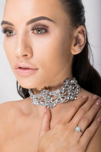 Mila - Silver Diamante Choker - Jewels of Jupiter