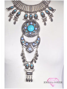 Vega - Silver Necklace with Blue Stones - Jewels of Jupiter