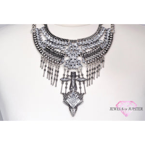 Arneb - Silver Bib Necklace - Jewels of Jupiter