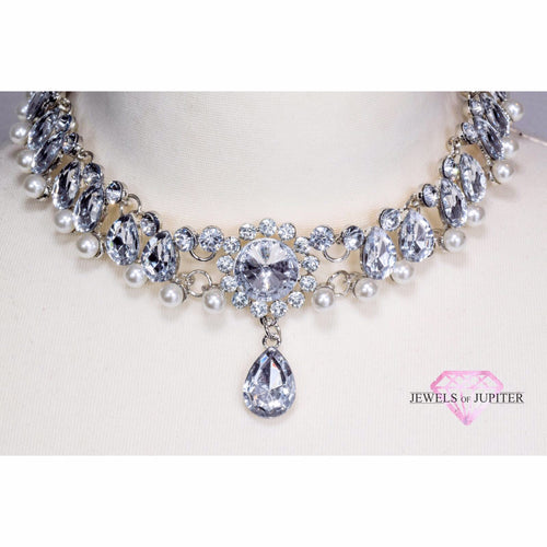 Luna - Diamante and Pearl Choker - Jewels of Jupiter