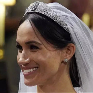 Meghan - Silver Diamante Tiara - Jewels of Jupiter