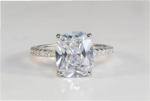 Celeste - Chunky Diamante Platinum-Plated Ring - Jewels of Jupiter